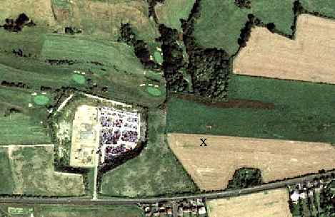 Aerial photo of site