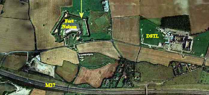 Man Cave Fort Nelson : Portsdown tunnels location map aerial photos